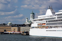 Ferries at moorings in port of Helsinki Stock Image