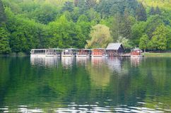 Ferries in Plitvice national park Stock Image