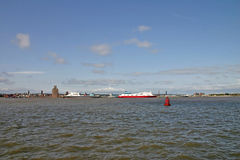 Ferries on river Mersey Royalty Free Stock Photo