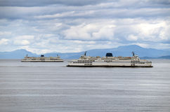 Ferries on the sea Royalty Free Stock Images