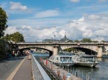 Ferries on the Seine River, Paris Stock Photos