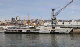 Ferries in Shipyard Stock Photos