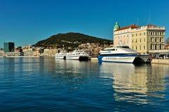 Ferries in Split Harbor Royalty Free Stock Photos