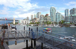 Ferries terminal in Granville island Vancouver BC. Royalty Free Stock Image