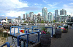 Ferries terminal in Granville island Vancouver BC. Stock Image