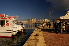 Ferries transportation on Island of Malta Royalty Free Stock Photo