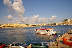 Ferries transportation on Island of Malta Stock Photography