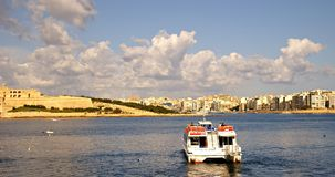 Ferries transportation on Island of Malta Royalty Free Stock Images