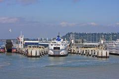 Ferries at Tsawwassen, Canada Stock Photo