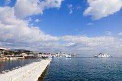 Ferries vers l'île de Miyajima, Hiroshima, Japon Photographie stock libre de droits