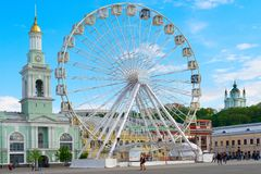 Ferries Wheel Andrew chuch Kiev royalty free stock photography