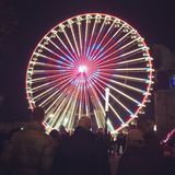 Ferries wheel. In Essen Xmas market 2014 Stock Photography