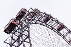 Ferries wheel, Prater, Vienna, Austria, overcast day royalty free stock photography