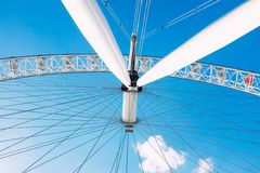 Ferries Wheel Under Blue Sunny Cloudy Sky Stock Images