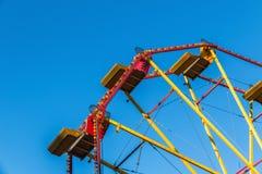 Ferries wheel in Winter Wonderland. Ferris wheel in a funfair, Winter Wonderland royalty free stock photos