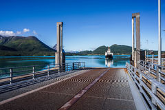Ferries& x27;十字架 美好的自然挪威 库存图片