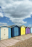 Ferring Beach Huts Stock Photos