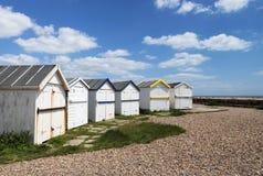 Ferring Beach Huts. Beach huts at Ferring, Sussex, UK Stock Photo