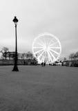 ferris法国重创的la巴黎roue轮子 免版税库存图片