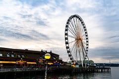 Ferris του Σιάτλ wheeel στοκ εικόνες με δικαίωμα ελεύθερης χρήσης