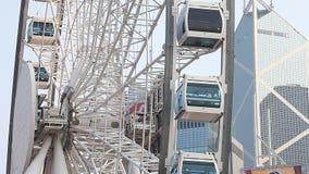 Ferris катит внутри Гонконг акции видеоматериалы