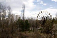 Ferris катит внутри город-привидение Pripyat, Чернобыль Стоковое Изображение RF