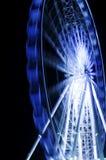 Ferris катит внутри движение в nighttime Стоковая Фотография RF