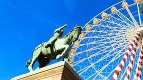 Ferris катит внутри Орлеан Францию Стоковое фото RF