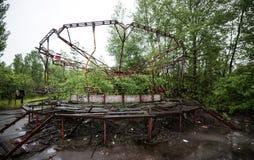 Ferris катит внутри парк Pripyat стоковые фотографии rf