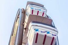 Ferris катит внутри Kemah, Техас стоковые фотографии rf