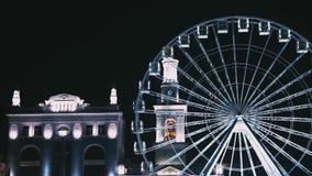 Ferris катят внутри Киев на район Podil видеоматериал