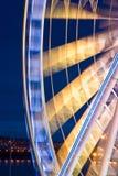 Ferris Ливерпул катят внутри движение стоковые изображения rf