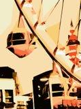 Ferris чертежа и картины катят внутри город Стоковое Изображение RF