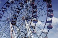Διπλή έκθεση ροδών Ferris Στοκ εικόνα με δικαίωμα ελεύθερης χρήσης