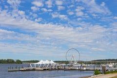 Ferris de port et de piliers nationaux dans le Maryland, Etats-Unis Photographie stock