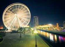 Ferris di Al Qasba - Shajah Fotografie Stock