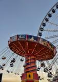 Ferris koła park rozrywki przy nocą Fotografia Stock