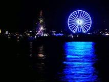Ferris koła przy nocą zdjęcie royalty free