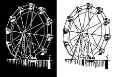 ferris koło ilustracja wektor