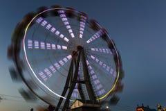 Ferris koło jarzy się w nocy Zdjęcie Stock