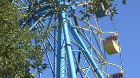 Ferris koło krąży zdjęcie wideo