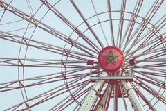 Ferris koło na nabrzeżu miasto Agadir, Maroko Obraz Royalty Free