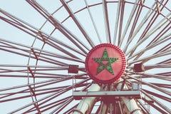 Ferris koło na nabrzeżu miasto Agadir, Maroko Obrazy Royalty Free