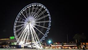 Ferris koło na Nighttime upływie zbiory wideo