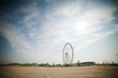 Ferris koło na plaży Obrazy Royalty Free