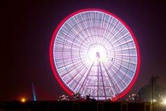 Ferris koło, noc widok, Danang Wietnam obrazy stock