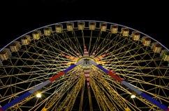 Ferris koło przy nocą w Ładnym, Francja Obraz Royalty Free