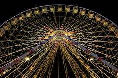 Ferris koło przy nocą w Ładnym, Francja Fotografia Royalty Free