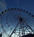 Ferris koło z nocy tłem Obraz Royalty Free