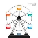 Ferris koła infographic elementy Fotografia Stock